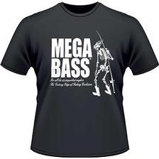 Apparel Megabass TS SKULL BLACK NOIR XXL