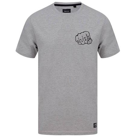 TEE SHIRT MANCHES COURTES HOMME NAVITAS KNUCKLES T-SHIRT - GRIS