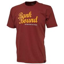 TEE SHIRT MANCHES COURTES HOMME PROLOGIC BANK BOUND CUSTOM - BORDEAUX