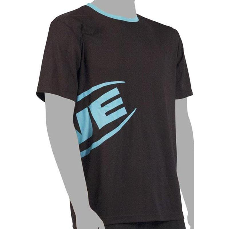 TEE SHIRT MANCHES COURTES HOMME RIVE STAMPED BLACK - NOIR/TURQUOISE - XL