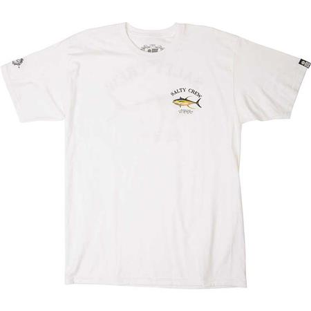 TEE SHIRT MANCHES COURTES HOMME SALTY CREW AHI MOUNT S/S TEE - BLANC