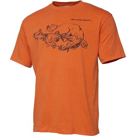 TEE SHIRT MANCHES COURTES HOMME SAVAGE GEAR CANNIBAL INK TEE - ORANGE