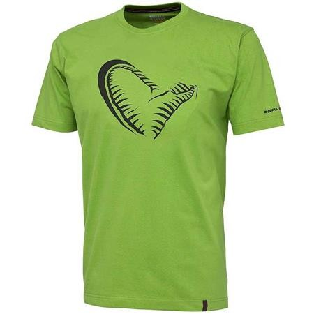 TEE SHIRT MANCHES COURTES HOMME SAVAGE GEAR SIMPLY SAVAGE JAW TEE - VERT