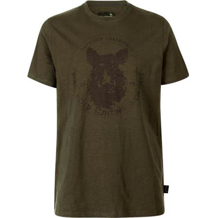 TEE SHIRT MANCHES COURTES HOMME SEELAND FLINT - OLIVE