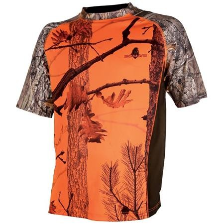TEE SHIRT MANCHES COURTES HOMME SOMLYS 031F - CAMOU ORANGE