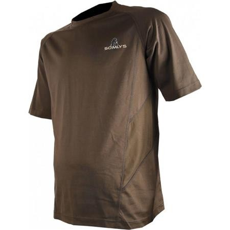 TEE SHIRT MANCHES COURTES HOMME SOMLYS 30 - MARRON