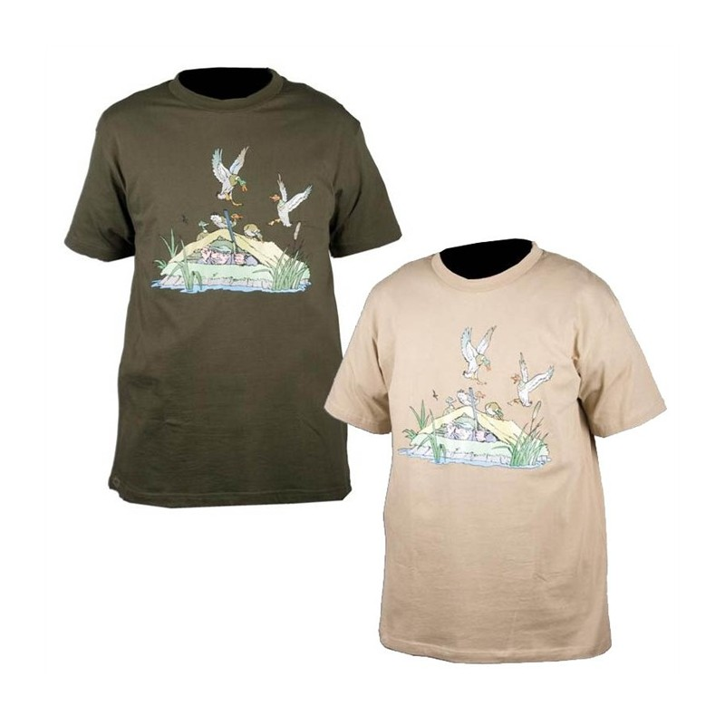 Tee Manches Hutte Canard Homme Courtes 049 Shirt Somlys 34ALRj5