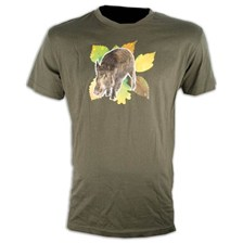 TEE SHIRT MANCHES COURTES HOMME SOMLYS SANGLIER FEUILLES 050K
