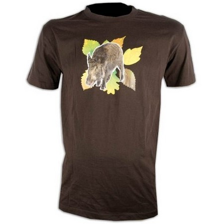 TEE SHIRT MANCHES COURTES HOMME SOMLYS SANGLIER FEUILLES 050M
