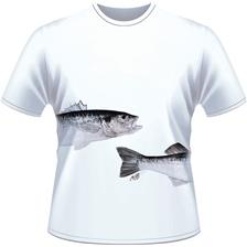 TEE SHIRT MANCHES COURTES HOMME ULTIMATE FISHING BAR - BLANC