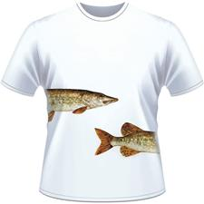 TEE SHIRT MANCHES COURTES HOMME ULTIMATE FISHING BROCHET - BLANC