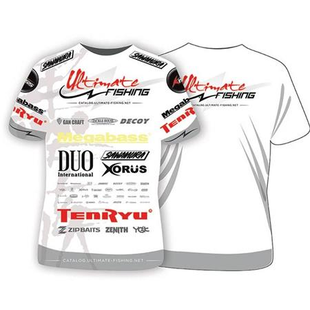 TEE SHIRT MANCHES COURTES HOMME ULTIMATE FISHING COMPETITION - BLANC