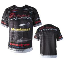 TEE SHIRT MANCHES COURTES HOMME ULTIMATE FISHING COMPETITION - NOIR