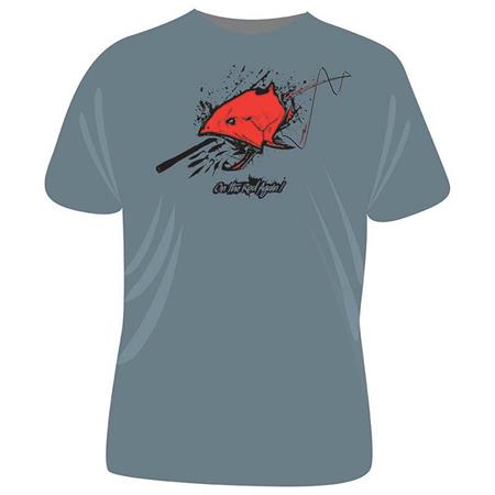 TEE SHIRT MANCHES COURTES HOMME ULTIMATE FISHING ON THE ROD AGAIN - GRIS