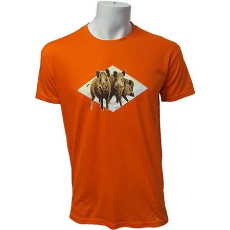 TEE SHIRT MANCHES COURTES JUNIOR BARTAVEL SANGLIERS - ORANGE