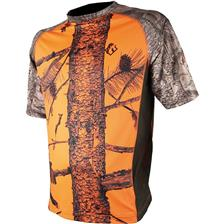 TEE SHIRT MANCHES COURTES JUNIOR SOMLYS 053FK - CAMOU ORANGE