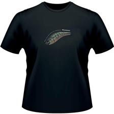 TEE SHIRT MANCHES COURTES MEGABASS Z-CRANK BASS BLACK