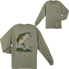 LARGE MOUTH BASS KAKI TAILLE L