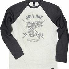 TEE SHIRT MANCHES LONGUES HOMME DUO TS ONLY ONE - NOIR/GRIS