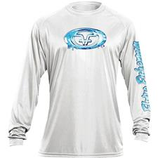 TEE SHIRT MANCHES LONGUES HOMME FLYING FISHERMAN WATER LOGO - BLANC