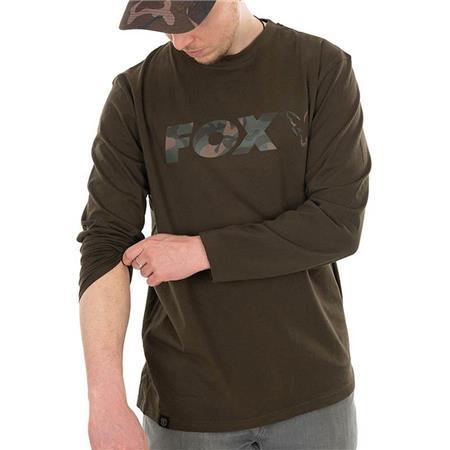 TEE SHIRT MANCHES LONGUES HOMME FOX LONG SLEEVE KHAKI/CAMO T-SHIRT - KAKI