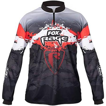 TEE SHIRT MANCHES LONGUES HOMME FOX RAGE PERFORMANCE TOP - NOIR/ROUGE