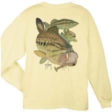 MOUTH BASS AND CRAWDAD JAUNE PALE TAILLE XL