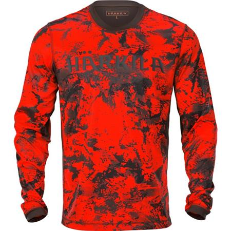 TEE SHIRT MANCHES LONGUES HOMME HARKILA WILDBOAR PRO L/S LIMITED EDITION - ORANGE CAMO