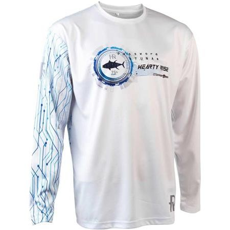 TEE SHIRT MANCHES LONGUES HOMME HEARTY RISE TUNA - BLANC