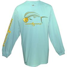 Habillement Hook and Tackle TARPON XRAY TURQUOISE TAILLE L