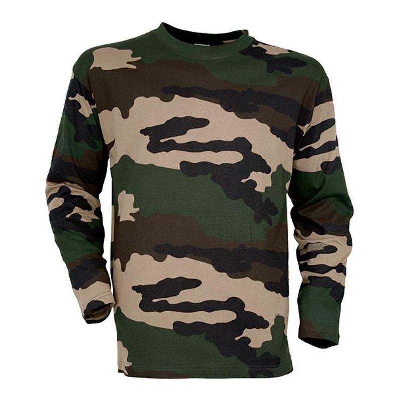 tee shirt manches longues homme percussion camo. Black Bedroom Furniture Sets. Home Design Ideas