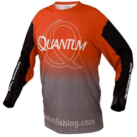 TEE SHIRT MANCHES LONGUES HOMME QUANTUM JERSEY - ROUGE/GRIS