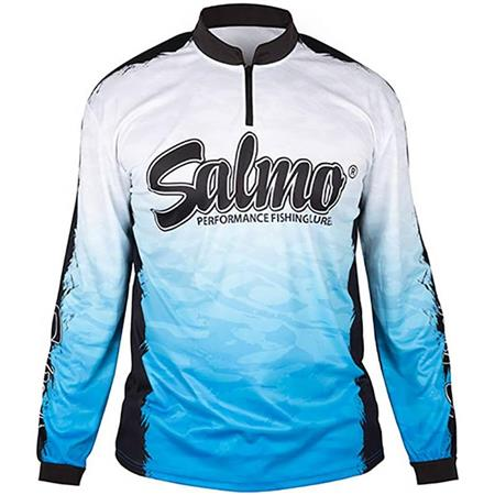 TEE SHIRT MANCHES LONGUES HOMME SALMO PERFORMANCE LONG SLEEVE - BLEU/BLANC