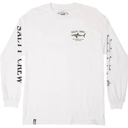 TEE SHIRT MANCHES LONGUES HOMME SALTY CREW BRUCE L/S TEE - BLANC