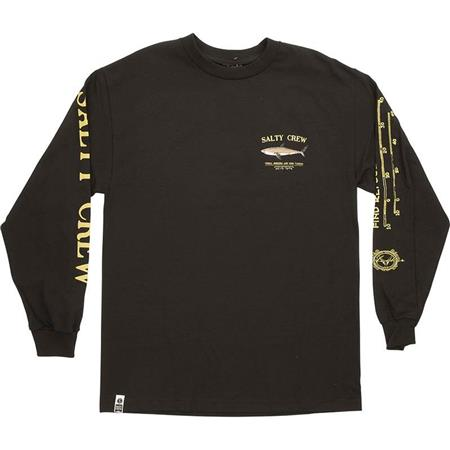 TEE SHIRT MANCHES LONGUES HOMME SALTY CREW BRUCE L/S TEE - NOIR