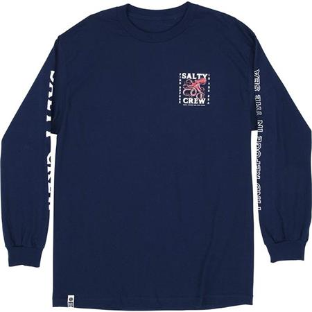 TEE SHIRT MANCHES LONGUES HOMME SALTY CREW SQUIDDY L/S TEE - BLEU