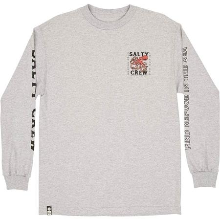 TEE SHIRT MANCHES LONGUES HOMME SALTY CREW SQUIDDY L/S TEE - GRIS