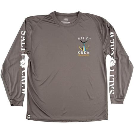 TEE SHIRT MANCHES LONGUES HOMME SALTY CREW TAILED L/S TECH TEE - GRIS