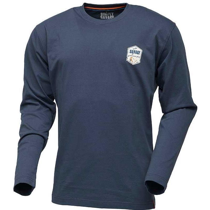 Gear Sg Homme Simply Bleu Shirt Longues Rex Manches Savage Tee gyb76Yf