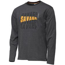 TEE SHIRT MANCHES LONGUES HOMME SAVAGE GEAR SIMPLY LOGO - GRIS