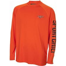 TEE SHIRT MANCHES LONGUES  HOMME SPORTCHIEF - ORANGE
