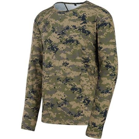 TEE SHIRT MANCHES LONGUES STAGUNT ORSET TEE LS - GREEN PIXEL
