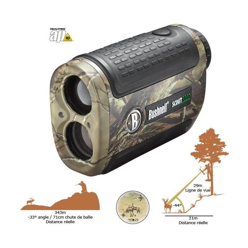 telemetre laser 5x24 bushnell scout 1000 arc. Black Bedroom Furniture Sets. Home Design Ideas