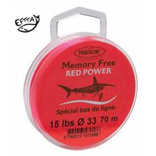 TERMINAL TACKLE MONOFILAMENT POWERLINE MEMORY FREE RED POWER