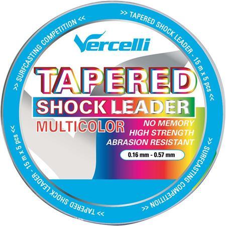 TETE DE LIGNE VERCELLI TAPERED SHOCK LEADER MULTICOLOR 15M X 5