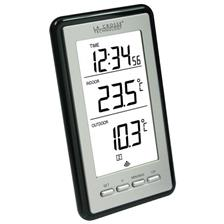 THERMOMETER STATION LA CROSSE TECHNOLOGY INTERIEUR/EXTERIEUR - ZILVER-ZWART