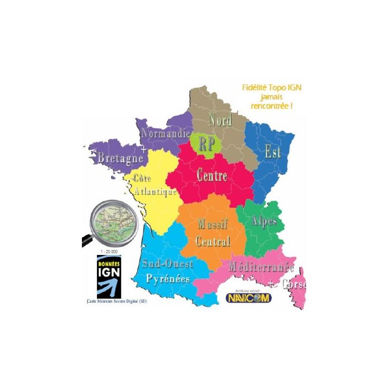 Topographische Karte Frankreich Magellan Ign