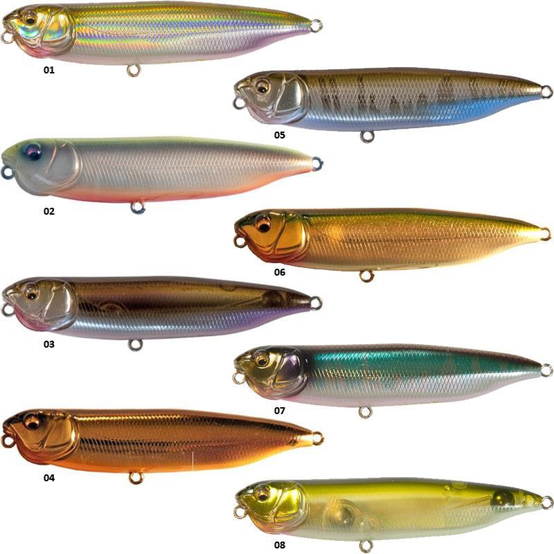 Topwater lure megabass dog x speed slide for Topwater fishing lure