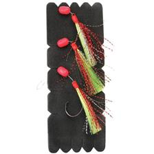 TRAIN DE PLUME MUSTAD DEMON TERAKIHI FLASHER - ROUGE/VERT/JAUNE