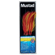 TRAIN DE PLUME MUSTAD SABIKI FEATHER TRACE - ROUGE/JAUNE